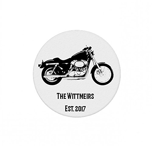 Motorcycle Biker Bike Personalized Stone Coasters - Set of 4