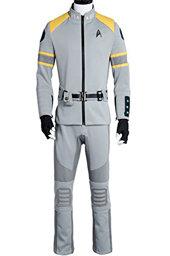 mingL Cosplay Costume Spock Kirk Yorktown Service Uniform Suit Outfit (Captain Kirk Outfit)