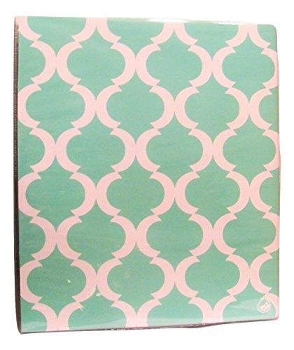 "Carolina Pad Studio C 1"" O-Ring Vinyl Binder with Pockets ~ Pattern Play (Green and White Design; 10"" x 11. 5"")"
