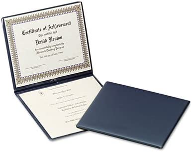 12-1//2 x 10-1//2 Sold as 1 Each Navy Diploma Cover