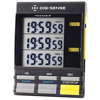 Cole-Parmer Triple-Display 3-Channel Digital Clock/Timer