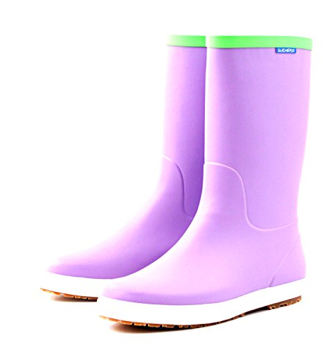 Luckers Rain Boots Foldable Women's Purple Wellies F4aCF