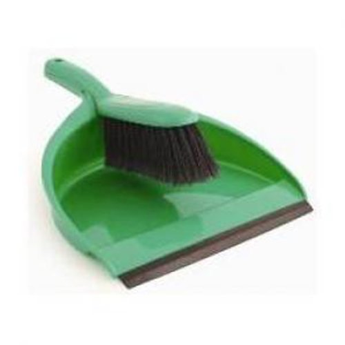 Dust Pan and Brush Set Green The Hill Brush