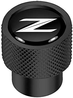 iPick Image for Nissan 370Z Z Logo in Black on Black Aluminum Tire Valve Stem Caps