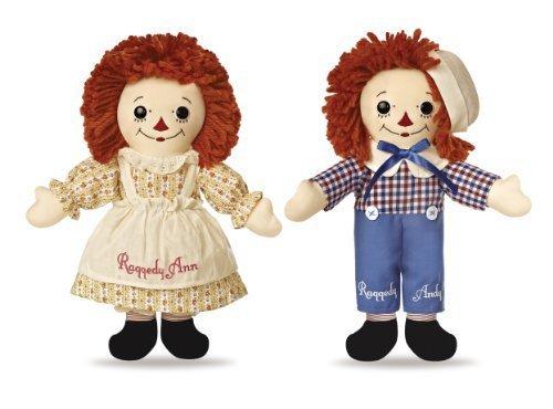 Doll Set Andy (Aurora World Limited Edition Boxed Set Asleep/Awake Vintage Raggedy Ann and Raggedy Andy Dolls, 12 High by Aurora World)