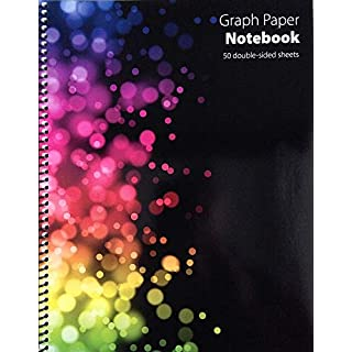 Graph Paper Notebook (50 double-sided sheets)