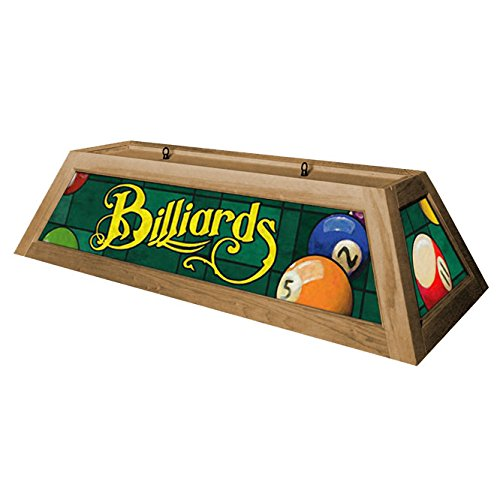 Classic Green Billiards Hanging Pool Table Light - Oak
