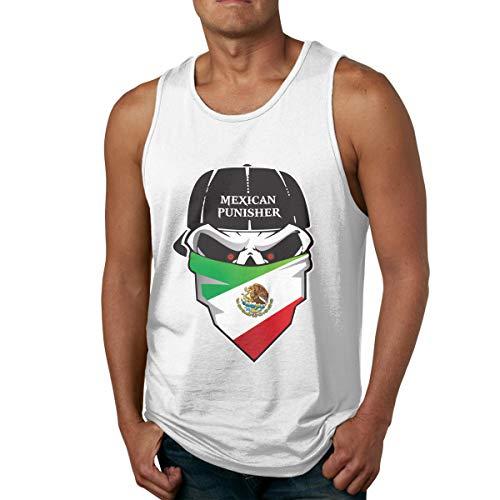 Men's Tank Tops Gym Vests Shirt Mexican Skull