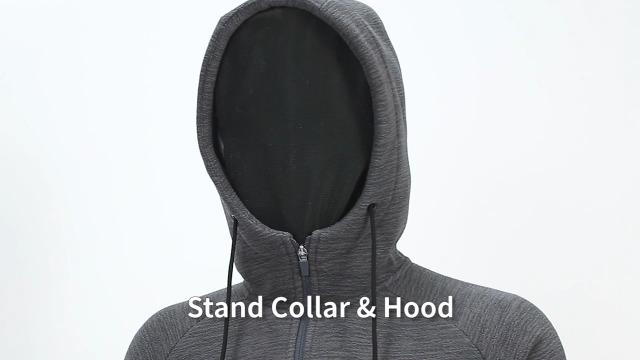 CAMEL Men Fleece Hoodie Jacket Sherpa Lined Full Zip Up Sweatshirt Winter Coat Casual Sport Outwear