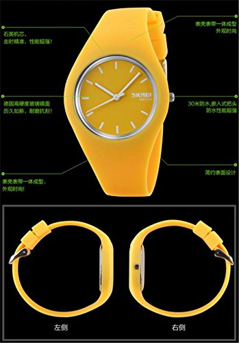 Skmei fashion Trends Korean version of the silica gel quartz ultra-thin fine gift watches(12 styles) (gray) by SKMEI (Image #4)
