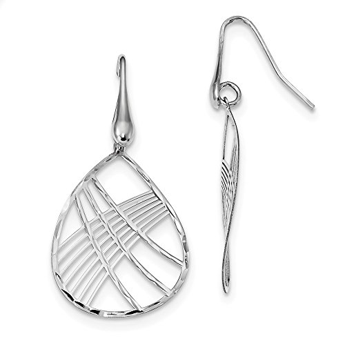 925 Sterling Silver Teardrop Shepherd Hook Drop Dangle Chandelier Earrings Fine Jewelry Gifts For Women For Her ()