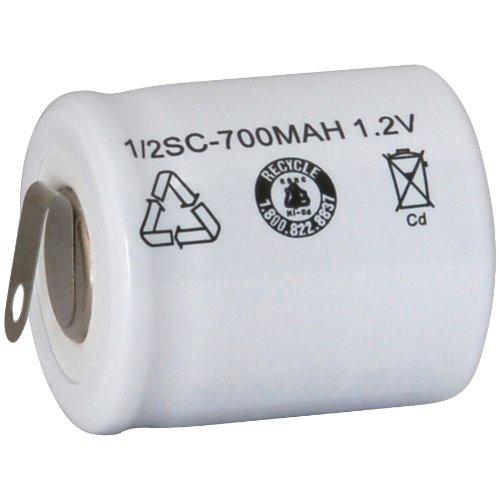 Parts Express 1/2 Sub C NiCd Cell Battery Tabs 700mAh (Sanyo Nicad Batteries)