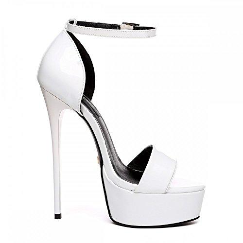 Giaro - Sandalias de vestir para mujer Blanc verni