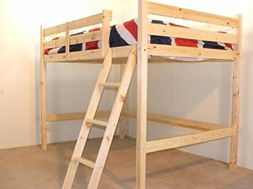 Double 4ft 6 Loft Bunkbed Wooden High Sleeper Includes 20cm