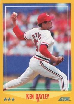 1988 Score 517 Ken Dayley St Louis Cardinals Baseball Cards At
