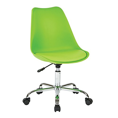 Fabric Student Task Chair with Pneumatic Base, Green