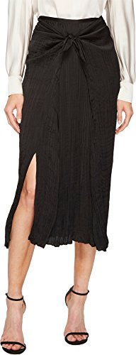 Vince Women's Pleated Tie Front Skirt Black Small by Vince