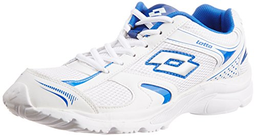 Lotto Men's Trojan White and Navy Mesh Running Shoes - 7 UK