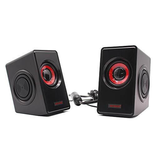 - Computer Speakers Multimedia Speakers with Volume Control Powered by USB 2.0 Stereo Loudspeaker [ARTSHOW]