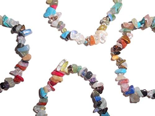 Single Piece & Wholesale 10 Pack of Natural Mixed Gemstone Chakra 7