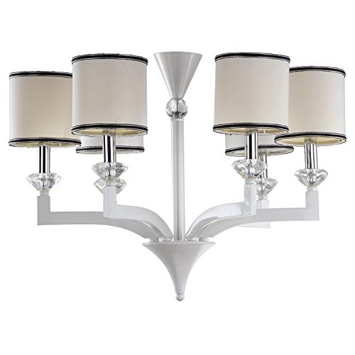 Safavieh Lighting Collection Erin Pearl White 92.5-inch Chandelier (Chandelier Pearl White)