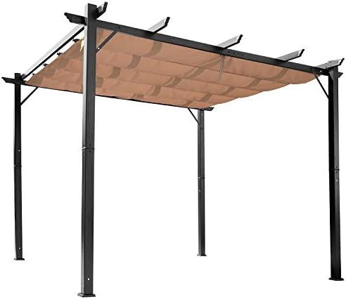 Outsunny cenador pérgola de jardín 3 X 4 Tela de poliéster Impermeable Estructura de Aluminio: Amazon.es: Jardín