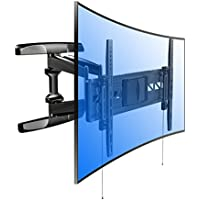 Loctek R2 Curved and Flat Panel TV Wall Mount Bracket for most of 32-70 Inches LED, LCD,OLED TVs With Articulating Arm Swivel & Tilt Max. Fits 16 inches wall stud/ VESA patterns up to 600 x 400mm