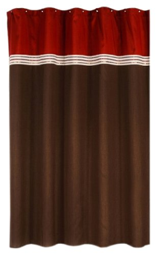 Chocolate Brown Red Curtains Curtain Menzilperde Net