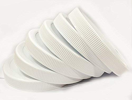 1 Gallon Fermentation Jar Replacement White Polypropylene Caps 110/400 (6, White Poly) by HANNIBAL'S FERMENTERS