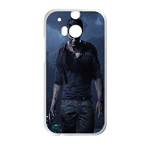 Uncharted 4 A Thief's End Uncharted HTC One M8 Cell Phone Case White Custom Made pp7gy_3335077