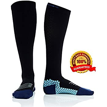 Active Fit Compression Socks (Men & Women) - Premium Graduated Athletic Fit for Running, Cycling, Nurses, Flight Travel, Maternity and for Stamina ...