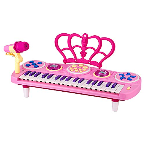 ROFAY Kids Piano Keyboard, 37 Keys Multi-Function Electronic Kids Piano Keyboard with Microphone Educational Music Instruments Toy Gifts for Toddlers Kids Children