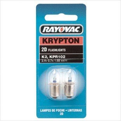 Rayovac K2-2 2Pk. Krypton Light Bulbs 2D by Rayovac
