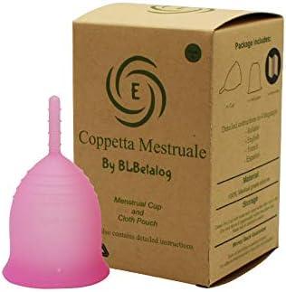Copa menstrual suave Copa orgánica de segunda generación Certificado por la FDA Hipoalergénico Silicona médica orgánica Flujos menstruales regulares ...