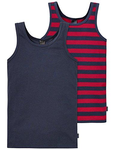 Schiesser Jungen Unterhemd 2Pack Tanks, 2er Pack, Mehrfarbig (Sortiert 1 901), 164