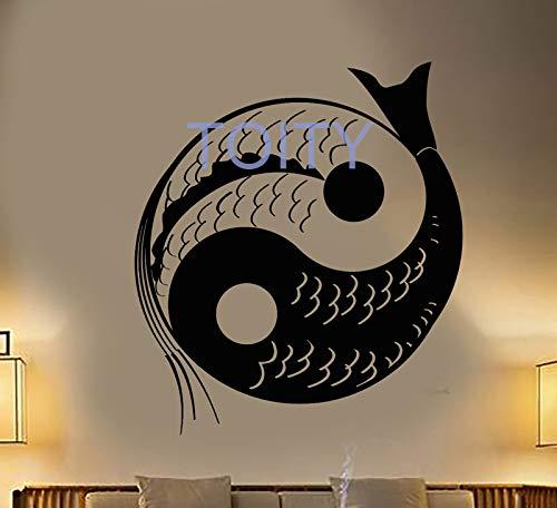 guijiumai Vinilo Tatuajes de Pared Yin YAN Piscis Budismo Peces ...