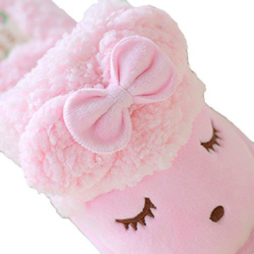 MiYang Winter Womens Cute Sheep Warm Plush Soft Sole Indoor Open Back Slipper Yelloow gcxAVX