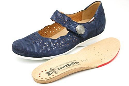 Size UK 3 Loafer Flats blue Women's Mephisto RIxq6zI