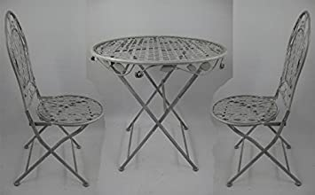 Garten Eisenmobel Sitzgruppe Tisch 2 Stuhle Eisen Gartenmobel