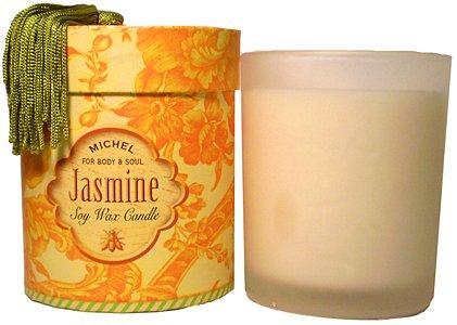 - Michel Jasmine Soy Wax Candle 6 oz.