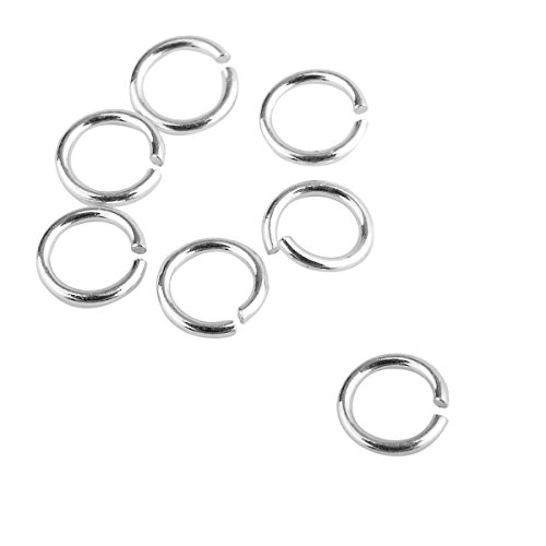 YF 95PCS 925 Sterling Silver Open Jump Ring for DIY Jewelry Making Findings 5mmx0.5mm (5mm Ring Open)