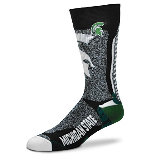 For Bare Feet NCAA-Downtown Socks-Michigan State Spartans, Large (College Michigan State Spartans Watches)