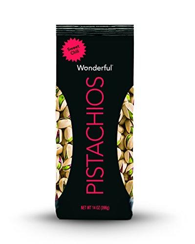 Wonderful Pistachios, Sweet Chili Flavor, 14 Ounce (Pistachio Finish)