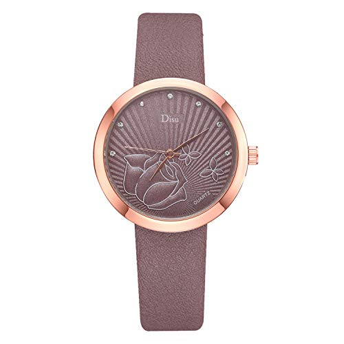 (Women's Grant Quartz Stainless Steel and Leather/Mesh Chronograph Watch with Love Knot Bracelet Gift Fashion & LYN Star☪ )