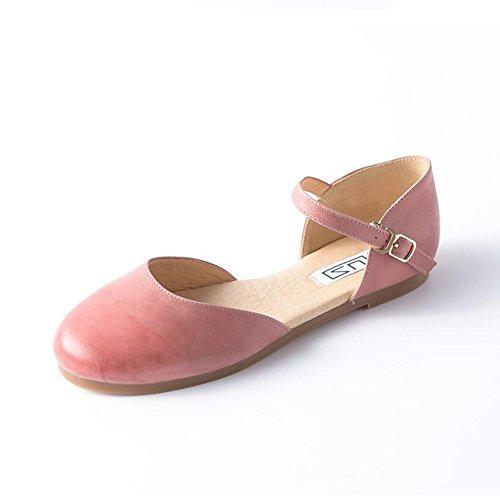 CJC Escarpins Sandales Chaussures Dames Rond Fermé Doigt de pied Plateformes Chunky Faible Talons (taille : EU37/UK4.5-5)