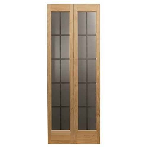 Pinecroft 837330 Mission Full Glass Bifold Interior Wood Door, 36