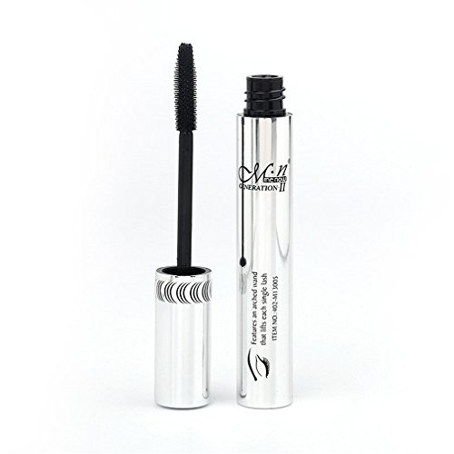 (M.N. 3D Fiber Lash Mascara Lash Power Extension Visible Eyelash Mascara Cosmetics Waterproof black)