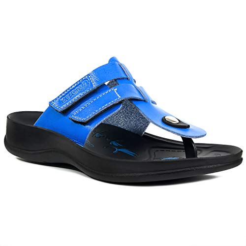 Aerosoft Arch Support Comfort Sandals for Women (US-Women-10, Morphis - Royal - Low Blue Sandals Thong