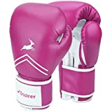 Trideer Pro Grade Boxing Gloves, Kickboxing Bagwork Gel Sparring Training Gloves, Muay Thai Style Punching Bag Mitts, Fight Gloves Men & Women