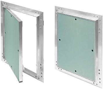Tapa para revisión GK de 150x150 mm yeso 12,5 mm kral16 pladur Revisión Mantenimiento Puerta 15x15 cm Mantenimiento Tapa de limpieza Mantenimiento Apertura, marco de aluminio Verde menta en seco
